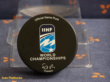 Speciale puck 100-jarig bestaan IIHF (International Ice Hockey Federation)