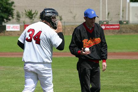 Ik na de pitch, tesamen met de coach