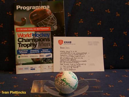Wedstrijdbal World Hockey Champions Trophy 2008 - Nederland - Spanje