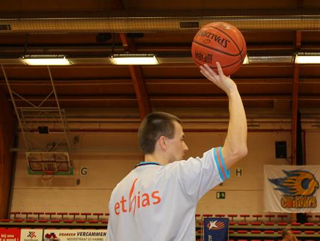 Wedstrijdbal + opworp Sint-Niklase Condors - Belgacom Liège Basket