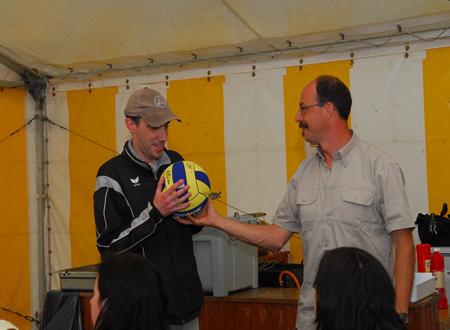 Wedstrijdbal finale Flanders Cup Kajakpolo 2008