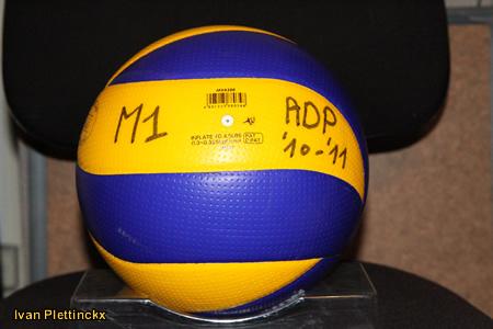 5 wedstrijdballen VC Argex Duvel Puurs seizoen 2010-2011 + 6 wedstrijdtruitjes
