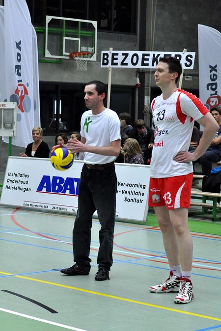 Ondertekende wedstrijdbal + opslag VC Argex Duvel Puurs - Axis Shanks Guibertin
