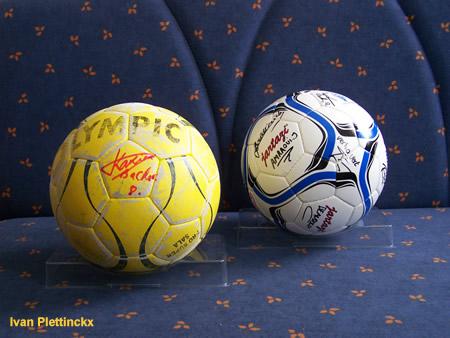 Gebruikte wedstrijdbal en ondertekende wedstrijdbal ZVC Klein-Brabant - Futsal Topsport Antwerpen