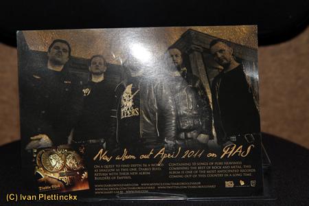 Drumsticks Kris Martens, drummer van Diablo Boulevard (groep van Alex Agnew)