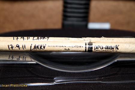 Drumsticks Laurens Smagghe - drummer van o.a. Milow