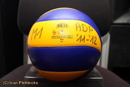 5 wedstrijdballen VC Argex Duvel Puurs - seizoen 2011 - 2012